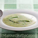 Groene asperge soep die je het ganse jaar door snel vers kan maken